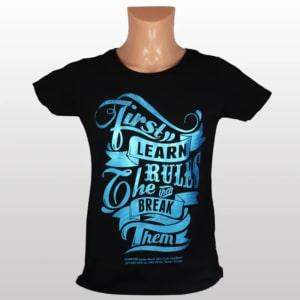 Metallic Blue T-paita