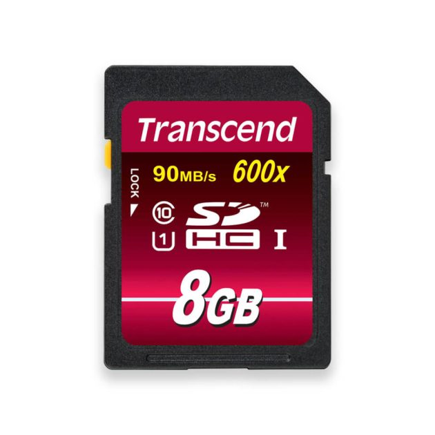 Transcend 8GB SDHC 600x Ultimate memory card