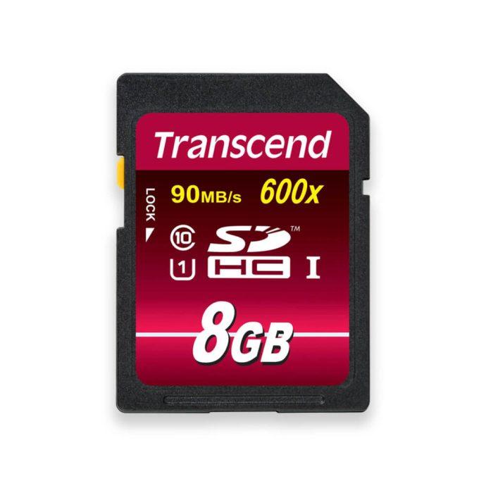 Transcend 8GB SDHC 600x Ultimate memory card