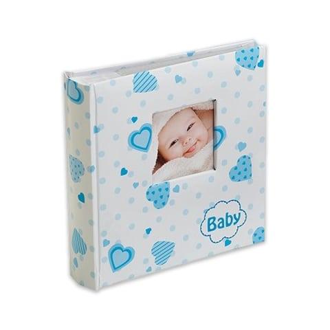 Baby's lovely hearts sininen taskualbumi