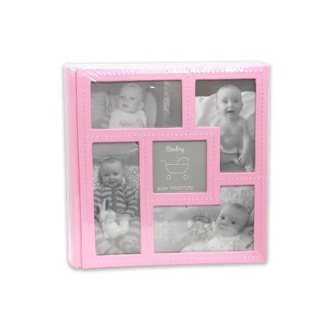 Baby's vision vaaleanpunainen vauva-albumi